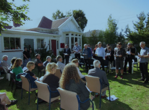 Powhiri at launch of Barnett House Recovery Centre